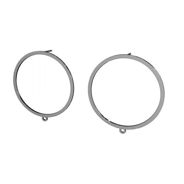 Kolczyk sztyft do podwieszania - koło oponka*srebro AG 925*LK-2576 KLS - 0,50 35x37,4 mm