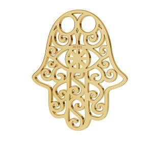 Złota zawieszka ażurowa - ręka opatrzności, Hamsa*złoto AU 333*LKZ-30001 - 0,30 15x20 mm