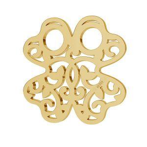 Złota zawieszka łącznik ażurowy - celebrytka - koniczynka*złoto AU 333*LKZ8K-30004 - 0,30 13x13 mm