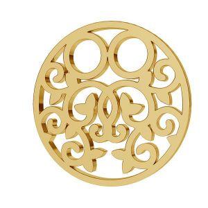 Złota zawieszka łącznik ażurowy - celebrytka - blaszka okrągła*złoto AU 333*LKZ8K-30005 - 0,30 13x13 mm