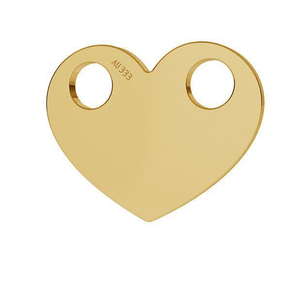 Złota zawieszka łącznik - celebrytka - serce*złoto AU 333*LKZ8K-30007 - 0,30 9,4x12 mm