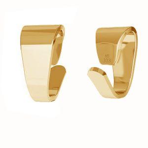 Złoty prosty krawat zaciskany do podwieszania*złoto AU 333*KR LKZ8K-30012 - 0,30 2,5x5 mm