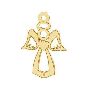 Złota zawieszka ażurowa - anioł*złoto AU 333*LKZ8K-30016 - 0,30 13x18,5 mm