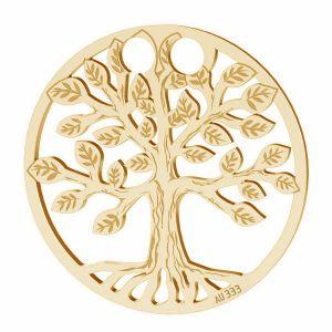 Złota zawieszka łącznik ażurowy - drzewo życia*złoto AU 333*LKZ8K-30017 - 0,30 19x19 mm