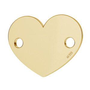 Złota zawieszka łącznik - serce*złoto AU 333*LKZ8K-30018 - 0,30 10x12 mm
