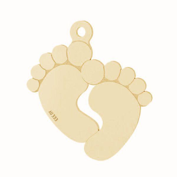 Złota zawieszka - stópki dziecka*złoto AU 333*LKZ8K-30019 - 0,30 16x19 mm