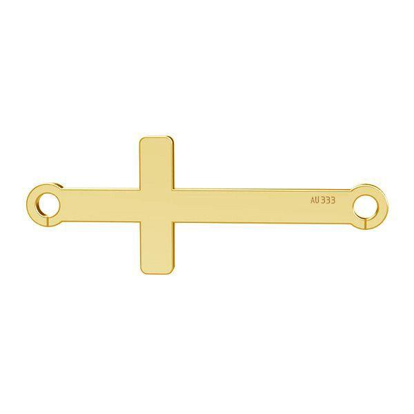 Złota zawieszka łącznik - krzyż*złoto AU 333*LKZ8K-30020 - 0,30 9x23 mm