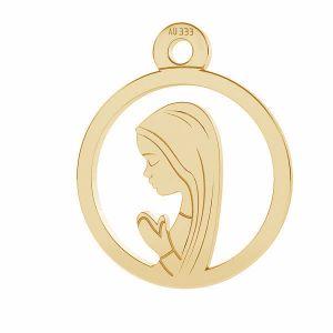 Złoty medalik - Matka Boska Fatimska*złoto AU 333*LKZ8K-30021 - 0,30 10,5x12,9 mm