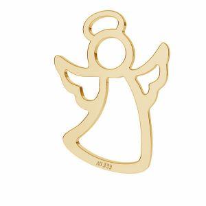 Złota zawieszka łącznik ażurowy - anioł*złoto AU 333*LKZ8K-30026 - 0,30 11,5x15,7 mm