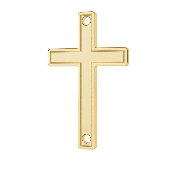 Złota zawieszka - krzyż