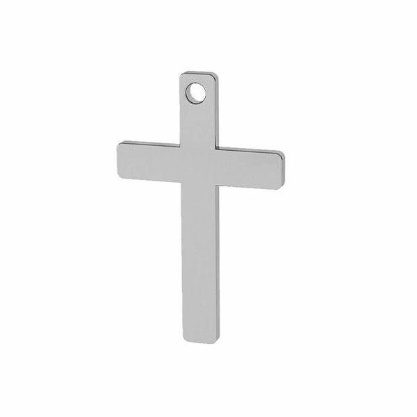 Zawieszka - prosty krzyż do grawerowania*srebro AG 925*LKM-2629 - 0,40 9,7x16,7 mm