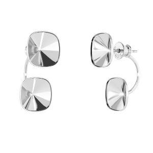 Kolczyk za ucho - miseczka ze szpilką - baza do kryształów*srebro AG 925*OKSV 4470 SWING 10x24,5 mm