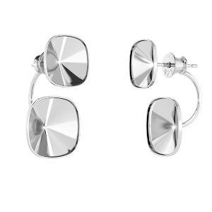 Kolczyk za ucho - miseczka - baza do kryształów Swarovskiego*srebro AG 925*OKSV 4470 SWING 10x24,5 mm (4470 MM 10,0)