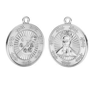 Zawieszka - moneta Frida Khalo*srebro AG 925*ODL-00734 20x23 mm