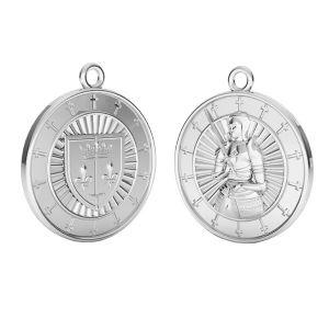Zawieszka - moneta Joanna dArc*srebro AG 925*ODL-00733 20x23 mm