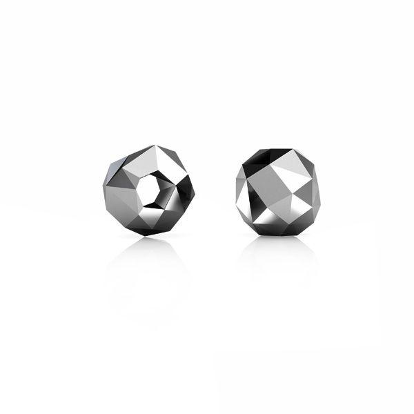 Diamentowany koralik - kulka, przekładka*srebro AG 925*ODL-00714 6x6 mm