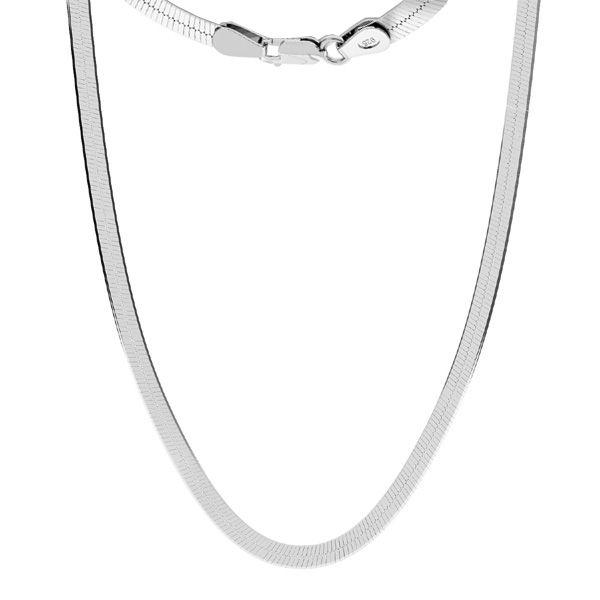 Łańcuszek płaszczony typu Snake z zamkiem*srebro AG 925*MAG 050 33 cm