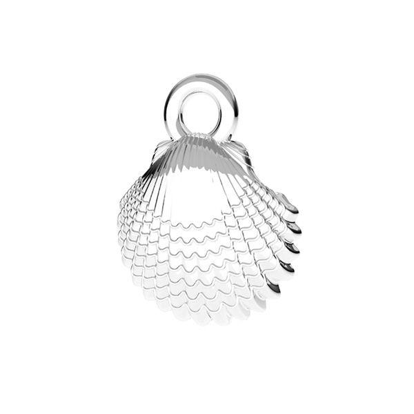 Zawieszka - muszelka*srebro AG 925*ODL-00752 8,5x11 mm