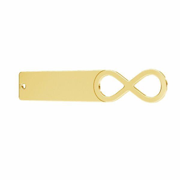 Zawieszka łącznik - blaszka prostokątna - znak nieskończoności*srebro AG 925*LKM-2630 - 0,50