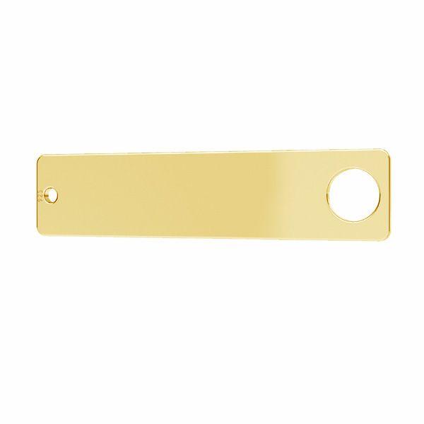 Zawieszka łącznik - blaszka prostokątna*srebro AG 925*LKM-2638 - 0,50
