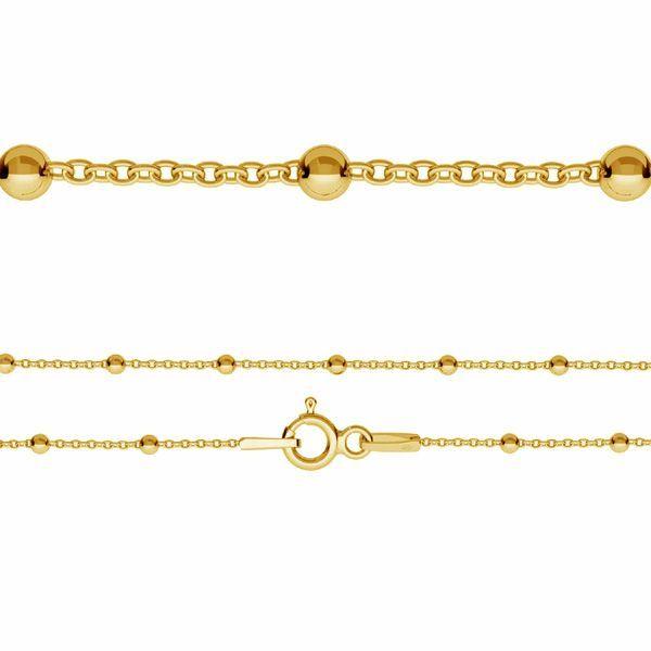 Łańcuszek typu Ankier kulkowy z zamkiem*srebro AG 925*A 035 PL 2,5 60 cm