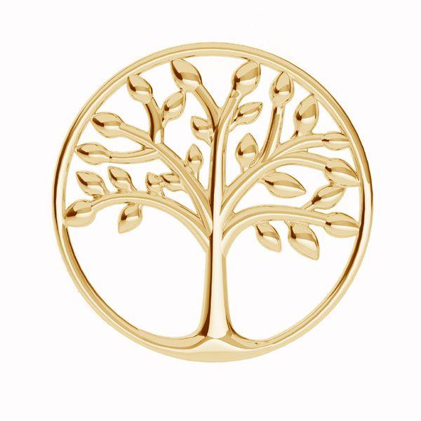 Zawieszka łącznik ażurowy - drzewo życia*srebro AG 925*LKM-2028 - 0,50 19x19 mm