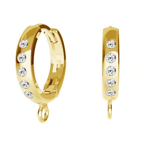 Bigiel angielski z kryształami Swarovskiego - okrągły typu kajdanki do podwieszania*srebro AG 925*ODL-00756 BZO 13,5x17 mm