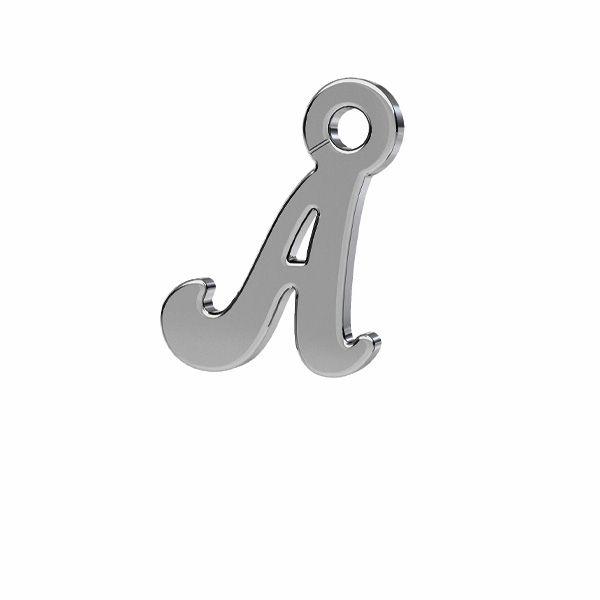 Zawieszka - literka A - prosta czcionka*srebro AG 925*LK-0076 - 0,50 7,1x9 mm