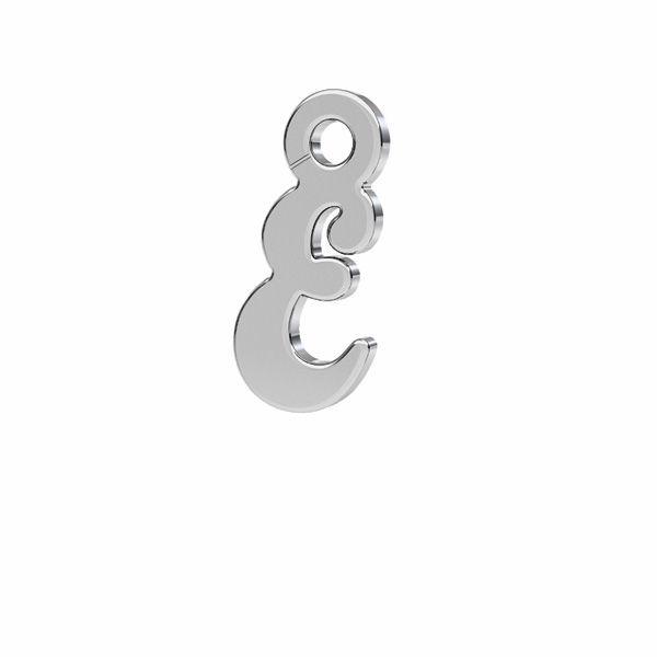 Zawieszka - literka E - prosta czcionka*srebro AG 925*LK-0076 - 0,50 4,6x9,3 mm