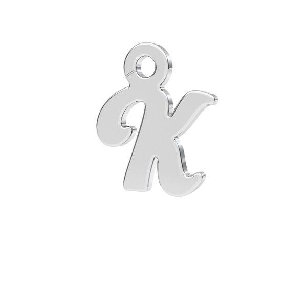 Zawieszka - literka K - prosta czcionka*srebro AG 925*LK-0076 - 0,50 7,8x9,3 mm