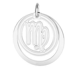 Zawieszka z kółkiem - znak zodiaku - panna*srebro AG 925*LKM-2590 - 0,50 ver.2 18x22 mm