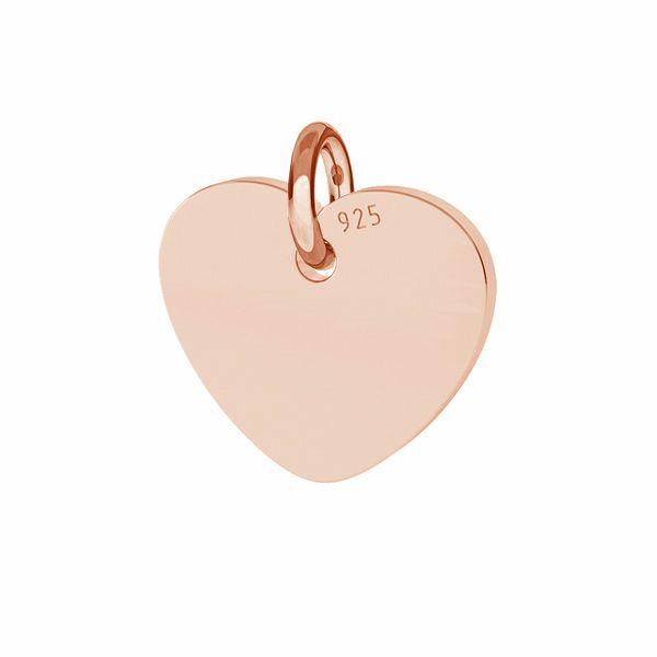 Zawieszka - blaszka w kształcie serca do grawerowania*srebro AG 925*J-LKM-2010 - 0,80 10x11 mm