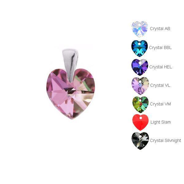Wisiorek z kryształem Swarovskiego - różne kolory*srebro AG 925*6202 MM 10 - 01769 WI 10x14,2 mm - Crystal AB