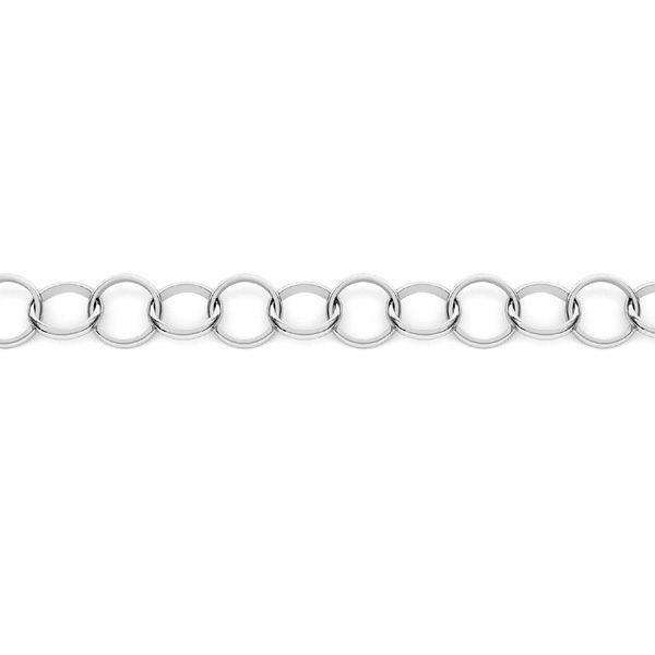 Łańcuszek metraż ręcznie składany - okrągła soczewka*srebro AG 925*SOK 1x6,8 mm