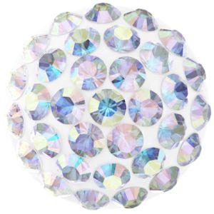 86601 MM12,0 01 001AB - Cabochon Pave Crystal Ab
