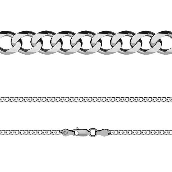 Łańcuszek typu Pancerka z zamkiem*srebro AG 925*PD 140 6L 45-60 cm