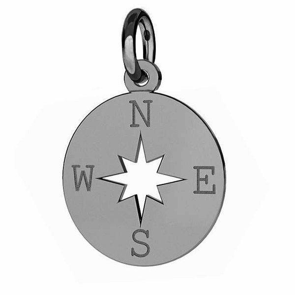 Zawieszka z kółeczkiem - kompas róża wiatrów*srebro AG 925*J-LKM-2015 - 0,40 13x15,5 mm
