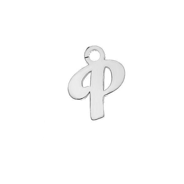 Zawieszka - literka T - prosta czcionka*srebro AG 925*LK-0076 - 0,50 5,1x9,5 mm