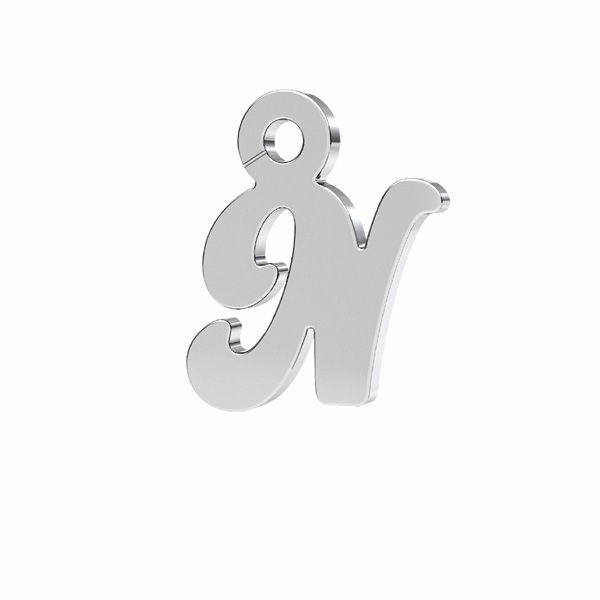 Zawieszka - literka R - prosta czcionka*srebro AG 925*LK-0076 - 0,50 7x9,5 mm