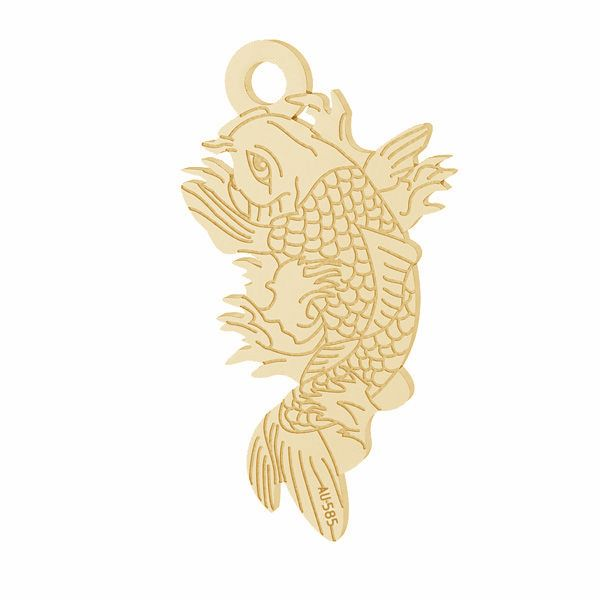 Zawieszka - ryba Koi*złoto AU 585*LKZ14K-50090 - 0,30 10,6x19,2 mm