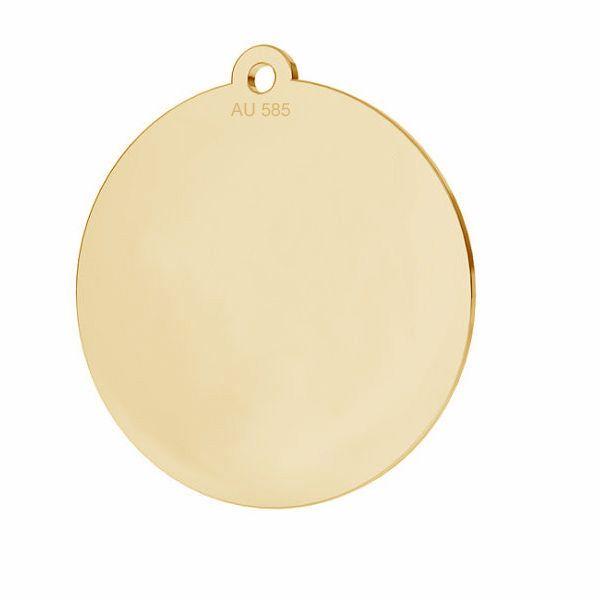 Zawieszka - okrągła blaszka do grawerowania*złoto AU 585*LKZ14K-50088 - 0,30 18x19,5 mm