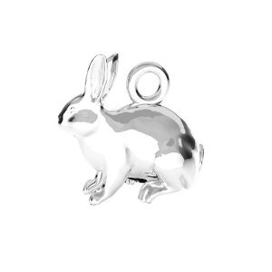 Zawieszka - królik*srebro AG 925*ODL-00776 11,1x11,2 mm