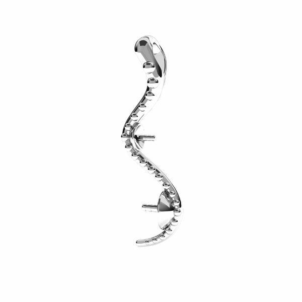 Zawieszka - wąż - baza do pereł Swarovskiego*srebro AG 925*ODL-00774 4x22 mm (5818 MM 4, 5818 MM 6)