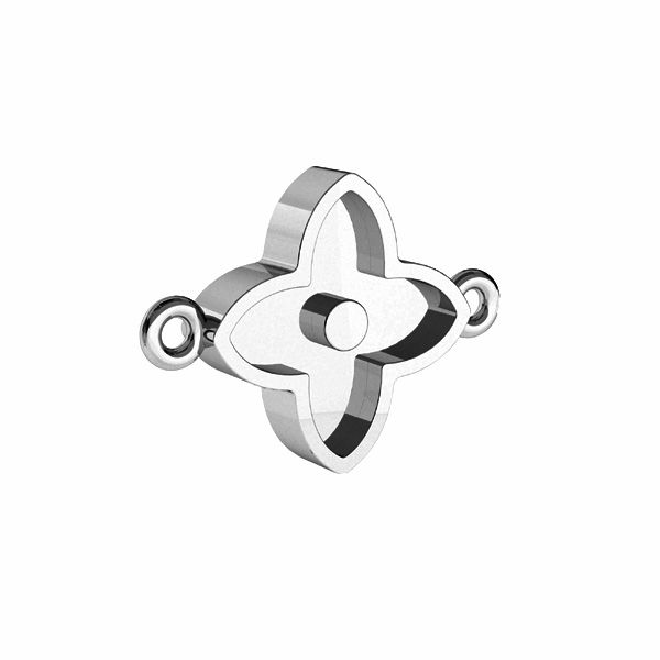 Zawieszka łącznik - kwiat, do żywicy*srebro AG 925*CON 2 ODL-00779 10,5x14,1 mm