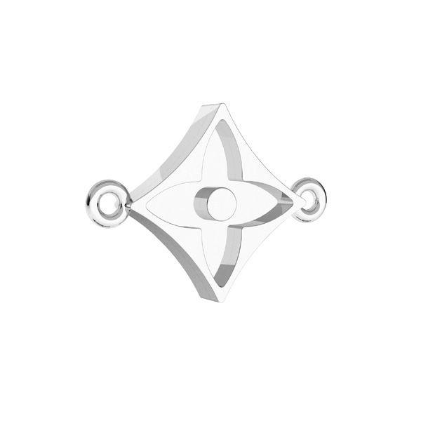 Zawieszka łącznik - kwiat, do żywicy*srebro AG 925*CON 2 ODL-00781 10,2x14,1 mm