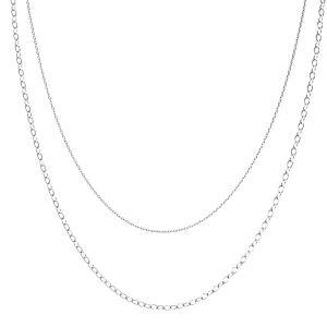 Baza łańcuszkowa do podwieszania, dwa łańcuszki*srebro AG 925*CHAIN 46 (A 030 / A 050)