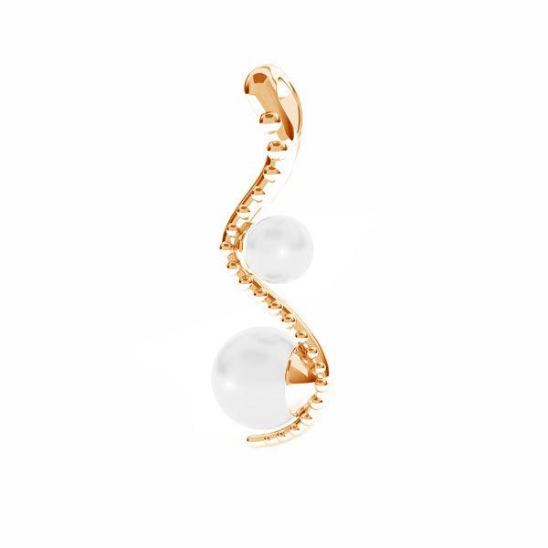 Zawieszka - wąż - z perłami Swarovskiego*srebro AG 925*ODL-00774 4x22 mm ver.2