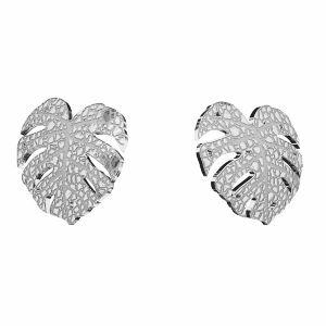 Kolczyk sztyft - liść mostera*srebro AG 925*KLS LKM-2760 - 0,50 10x11,2mm