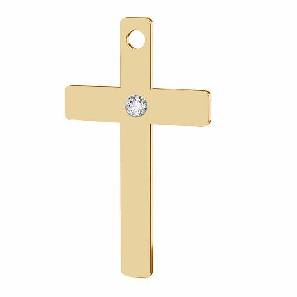 Zawieszka - prosty krzyż z diamentem*srebro AG 925*LKM-2789 - 0,80 9,7x16,7 mm (ULTRA SKIN PACK)