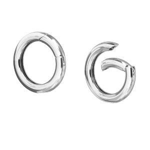 Zapięcie okrągłe gładkie - typu karabińczyk*srebro AG 925*CHO 23,3 mm